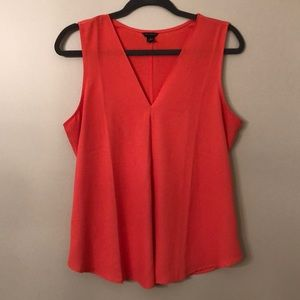 Ann Taylor Coral Sleeveless Blouse